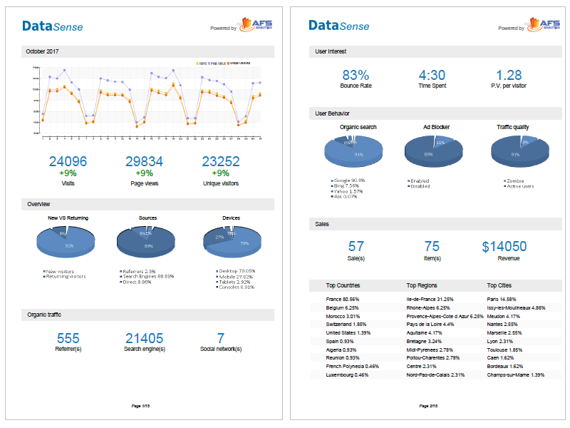 Customized PDF  Analytics report  with your Logo