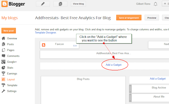 Blogger traffic Analytics
