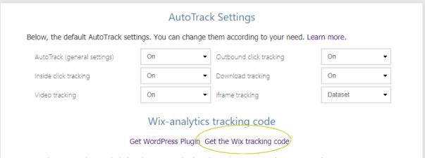 get wix Analytics code